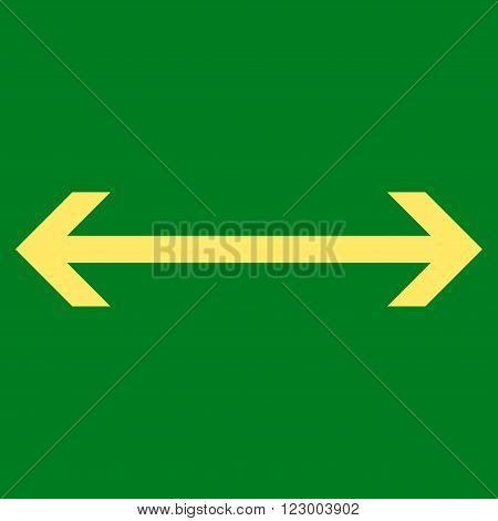 Horizontal Flip vector symbol. Image style is flat horizontal flip iconic symbol drawn with yellow color on a green background.