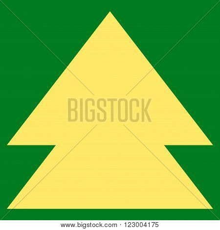 Move Up vector symbol. Image style is flat move up icon symbol drawn with yellow color on a green background.