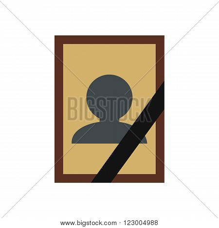 Photo of deceased icon in flat style isolated on white background