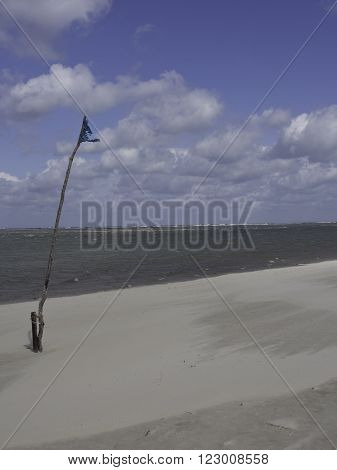 the beach of spiekeroog, in the german frisia