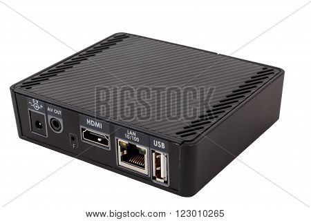 TV set top box receiver with isolated on white