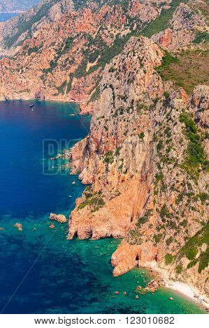 Corsica, French Island In Mediterranean Sea