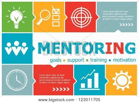 Mentoring Design Illustration Concepts For Business, Consulting, Management, Career.