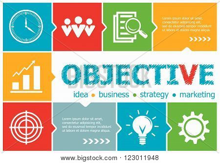 Objective Design Illustration Concepts For Business, Consulting, Management, Career.