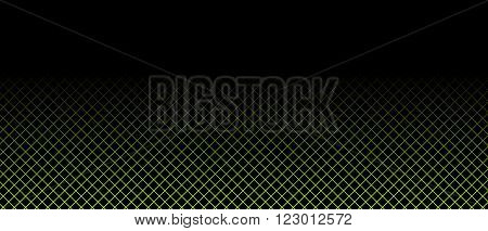 Black Background with soft light green grid