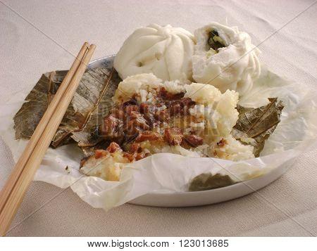 Lo mai gai a classic dim sum dish served during yum cha hours.