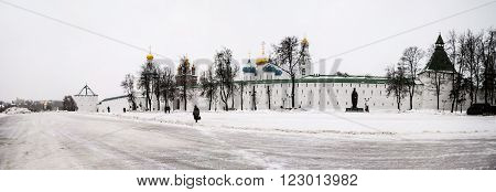 The Trinity Lavra of St. Sergius in winter