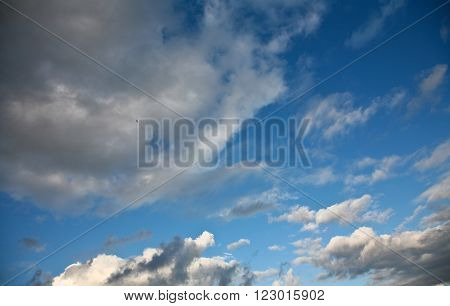 summer sky with nice cloud formation in the summer ** Note: Visible grain at 100%, best at smaller sizes