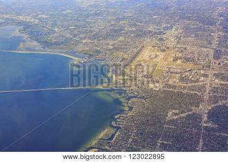 Aerial View Of Tampa