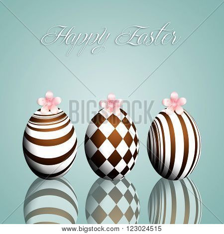 illustration of Chocolate eggs for Happy Easter