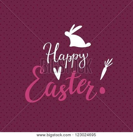 Easter Lettering Background With Script Typography