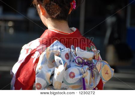Girl In Traditional Japanese Kimono