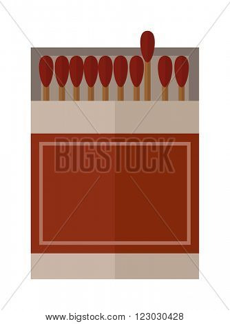 Vector burning matches pack. Matches and hot lighters. Matches ignite and bright flammable lighters. Vector burning matches sticks
