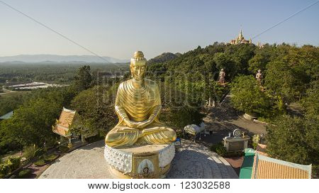 wat tang sai temple ban krood prachaubkhirikhan province southern of thailand important traveling destination