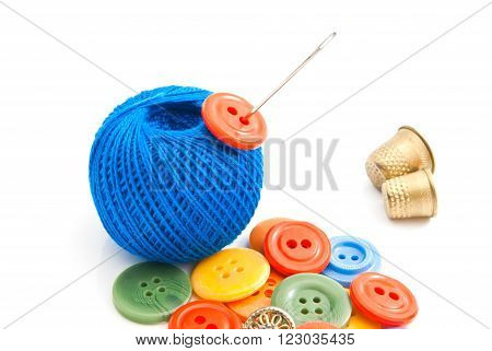 Buttons, Thimbles And Blue Thread