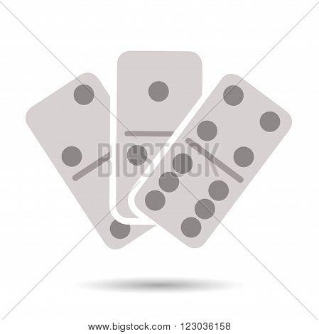 Flat domino icon isolated on white background
