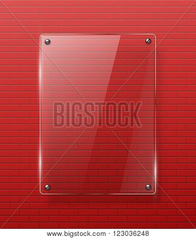 Glass framework Vector illustration. Eps10