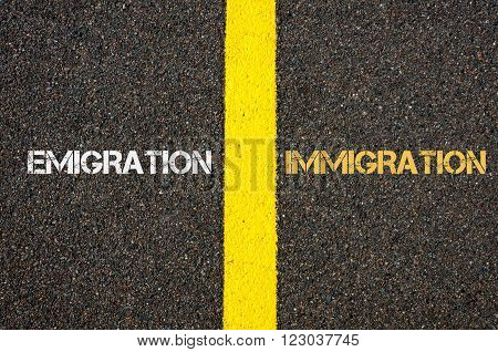 Antonym Concept Of Emigration Versus Immigration