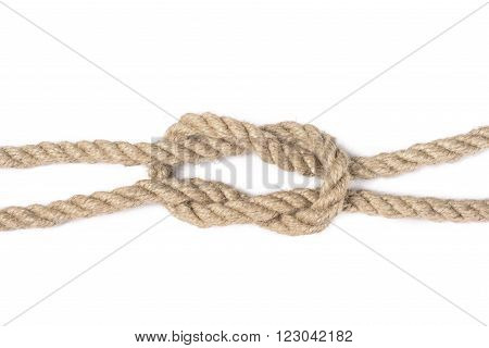 knot of rope isolated on a white background