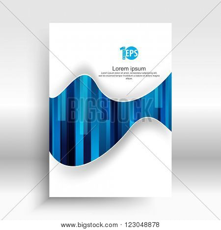bent waving lines over rectangle geometric elements material background design. eps10 vector