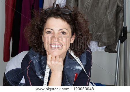 Fashion Designer At Work. Cheerful  Fashion Designer Smiling