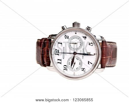 men's wrist watch isolated on white background