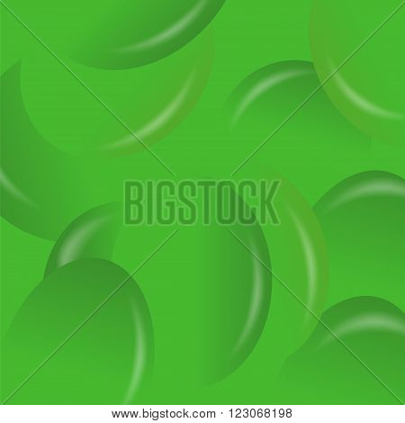 Green Candy Background. Set of Green Jelly Beans.