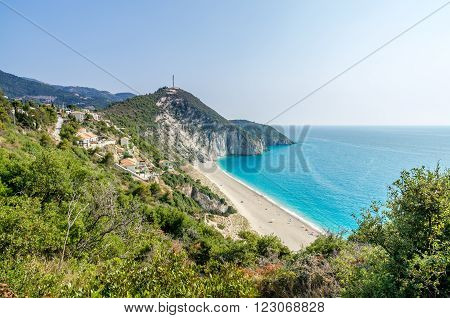 Milos beach near Agios Nikitas village on Lefkada Island, Greece