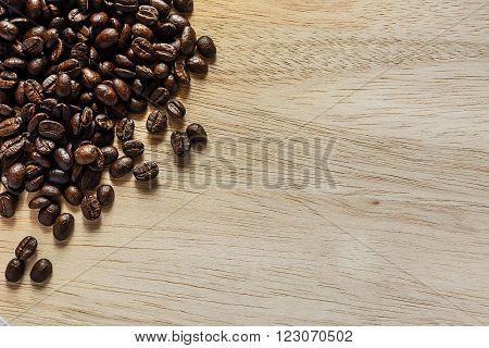 Brown Coffee, Brown Coffee On Wooden Background