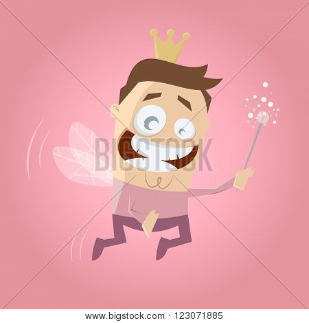 funny male cartoon fairy