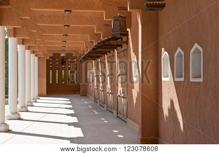 Rijadh,Saudi Arabia - November 13, 2007: A rebuilt palace in Dir'Aijah, the ancient kingdom capital, in Rijadh suburb
