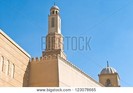 Riyadh, upward vie of the Al Raijemi Grand Mosque.