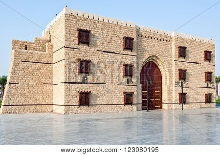 Jeddah, a rebuilded Turkish fort called 'The door of Jeddah' in the airport area.
