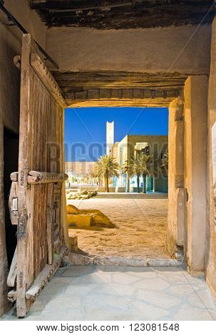 Riyadh, Saudi Arabia - November 29 2008: The inside of the Masmak Fortress (XIX century) in the old city center.