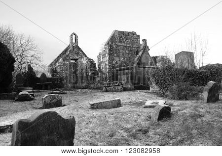 A winters day at the ruined church in Carnock