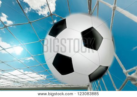 The ball is in the goal