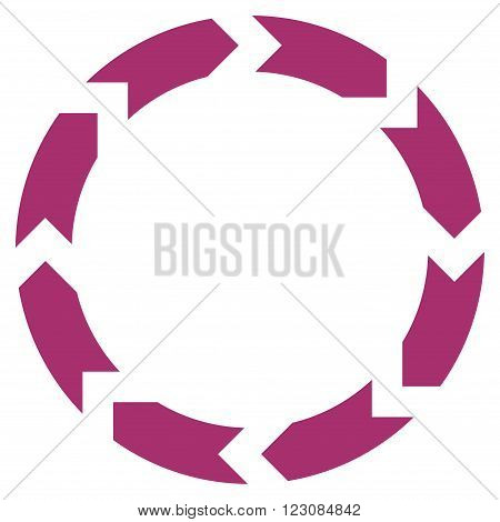 Circulation vector icon. Style is flat icon symbol, purple color, white background.