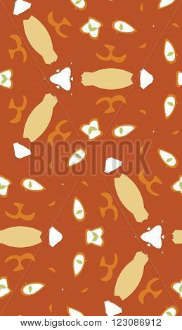 Seamless Pattern Of Abstract Odd Shapes