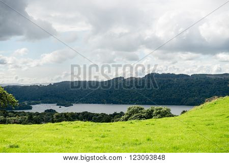 Windermere Lake In  English Lake District National Park, Cumbria, Uk