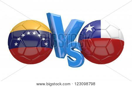 Preliminary competition football match between national teams Venezuela and Chile