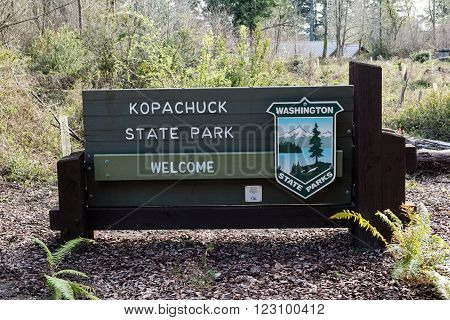 Kopachuck State park near Gig Harbor Washington