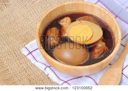 Stewed Eggs Or Eggs And Pork In Brown Sauce