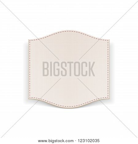 Realistic paper white Banner with Seams. Vector Illustration