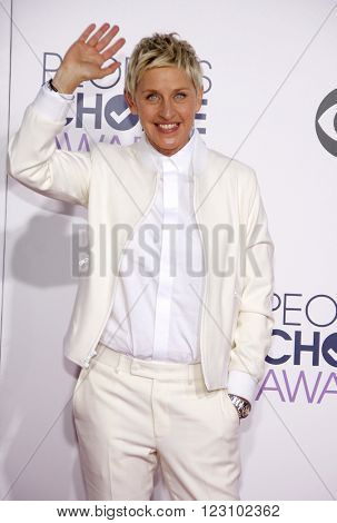 Ellen DeGeneres at the 41st Annual People's Choice Awards held at the Nokia L.A. Live Theatre in Los Angeles on January 7, 2015.