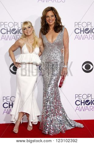 Anna Faris and Allison Janney at the 41st Annual People's Choice Awards held at the Nokia L.A. Live Theatre in Los Angeles on January 7, 2015.