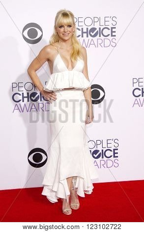 Anna Faris at the 41st Annual People's Choice Awards held at the Nokia L.A. Live Theatre in Los Angeles on January 7, 2015.