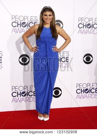 Molly Tarlov at the 41st Annual People's Choice Awards held at the Nokia L.A. Live Theatre in Los Angeles on January 7, 2015.