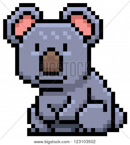 Vector illustration of Koala Bear - Pixel design