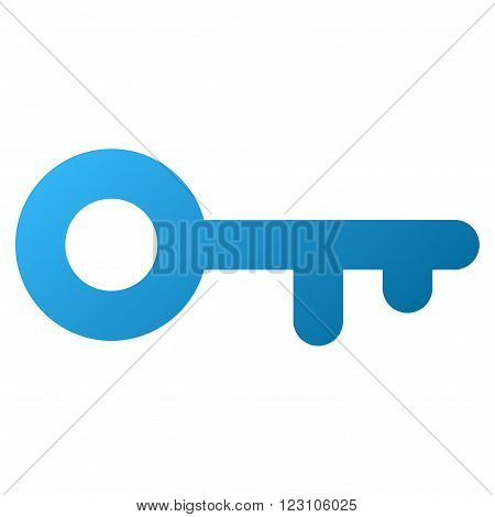 Key vector toolbar icon. Style is gradient icon symbol on a white background.