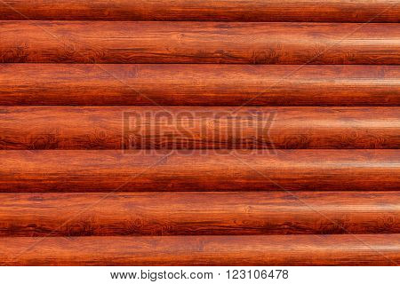 Brown horizontal logs texture. New log texture as background with a copy of the space.